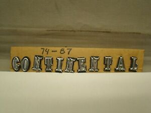 72-87 Lincoln Continental Mark IV V VI Trunk Emblem Letters continental letters