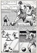 FINALE DE COUPE FOOTBALL (ROBERT HUGUES) PLANCHE ORIGINALE PILAR SANTOS PAGE 39