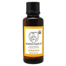 2 PC Erbaviva Stretch Mark Oil 4oz, 125ml Organic Bath Body Moisturizers NEW