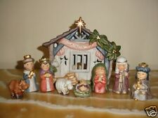 Christmas Gift 10 Piece Great Holiday Nativity Set Children figures NIB