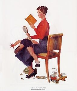 Norman Rockwell Boy with Hammer Print CHILD PSYCHOLOGY