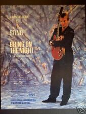 "1985 STING in ""Bring On The Night"" Movie promo ad"