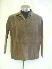 "Ladies Coat - Relativity, size XL, bust 46"", overshirt, brown, 100% suede - 7753"
