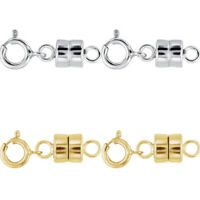 2 - NEW SOLID .925 Sterling Silver and 2 - 14K Yellow Gold Filled Magnetic Clasp