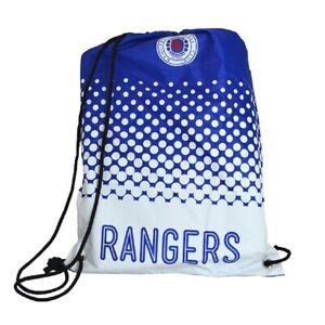 Rangers Football Club Official Gymbag Swimming Kit Bag PE Bag Blue Drawstring