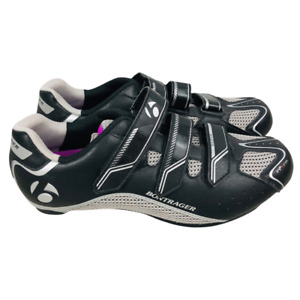 Bontrager Womens Solstice WSD Cycling Shoe Black Gray Hook & Loop 2 Bolt 10.5
