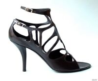 new $975 Roger Vivier open-toe LASER-CUT leather strappy heels shoes 36.5 6.5