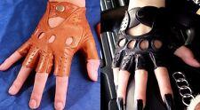!NEU! Real Leder Fingerlose Autohandschuhe! NEU!