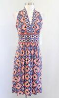 NWT Wisp Stitch Fix Medallion Geometric Print Jersey Dress Size 0 Orange Blue