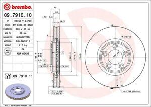 Disc Brake Rotor-Base Front Brembo 09.7910.11