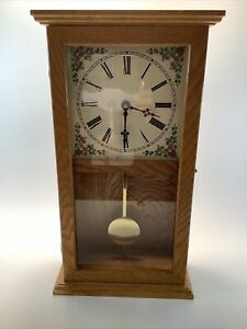 Mantle Grandfather Clock Takane Parts Tested Works 19.5 X 10.5 X 4.25 Inches