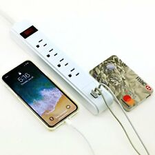 Power Strip Surge Protector AC Wall  3Ft 4 Outlet 2 USB 15Amp Circuit ETL Listed