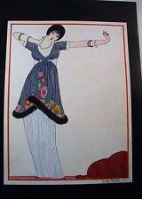 Art Deco Vintage Fashion Print Paul Poiret Dress Design Illust Georges Lepape