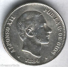 Alfonso XII 1884 Filipinas 50 Ctvos.Manila @@ BELLA @@