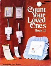 Lady Bug Designs Count Your Loved Ones Bk 2 for Counted Cross Stitch Vtg 1978