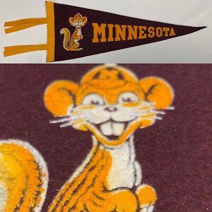 1950/'s Minnesota golden gophers university 3.5x9 MINI pennant vintage