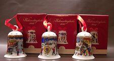 Hutschenreuther Weihnachtsglocken Set: Motive 2012 und  2013 und 2014