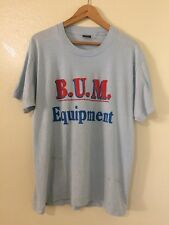 Bum Equipment Vintage Baby Blue Shirt Screen Stars Best Distressed Size XL