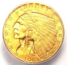 1913 Indian Gold Quarter Eagle $2.50 Coin - Certified ICG MS65 - $4,440 Value!