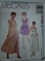 Dress Yolked Sleeveless 4 6 8 Sewing Pattern 7706 McCalls VTG UC FF Princess