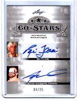 Ric Flair Road Warrior Animal 2013 Leaf Co-Stars Dual Autograph Card WWE SN 8/25