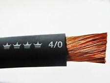 4/0 Excelene Welding Battery Cable (Buy per Foot) BLACK MADE IN THE USA Copper