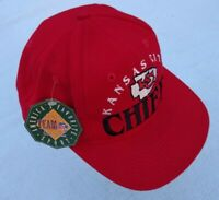 Vintage Kansas City Chiefs THE GAME Hat Sewn Snapback NEW WITH TAGS 1990s NFL
