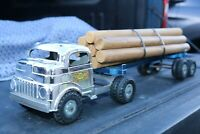 Structo LOG HAULER CARRIER Semi Transport Truck - pressed steel - USA