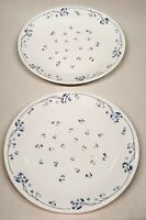 "Lot 2 Vintage Corelle Provincial Blue Flowers 10.25"" Dinner Plates"
