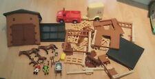 simba pony club playset jeep & horse box,accessories bundle playmobil like