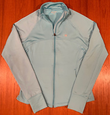 Champion Elite Womens Fleece Pullover Medium Teal Blue Running Jacket Full-Zip