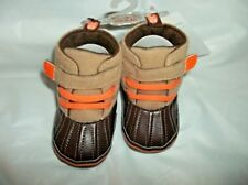 Stepping Stones Infant-Baby Boy's High Top Crib Shoes Size 3 ~ 6-9 Months