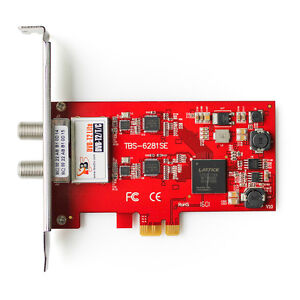 TBS6281SE DVB-T2 T C TV Tuner PCIe Card Terrestrial Cable Receiver For PC IPTV