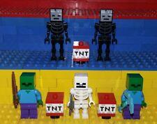 Lego Minecraft Figuren. Skeleton, Zombie, Wither Skeleton, Minifig 21139 21126