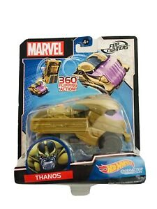 Hot Wheels Thanos Avengers Endgame Flip Fighters Character Car 1:43 Scale Marvel