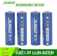 4x 1.5V AA li-ion lifepo4 batteries JUGEE 3000mWh lithium rechargeable battery