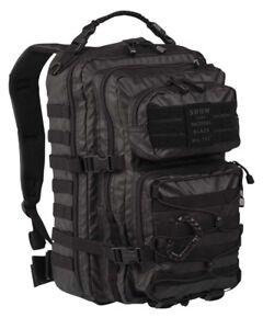 US Assault Pack large Tactical black, Rucksack, Outdoor, Military, Camping -NEU-