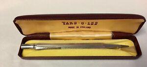 Yard . O . Lead Sterling Silver Propelling Pencil in Original Box, London 1966