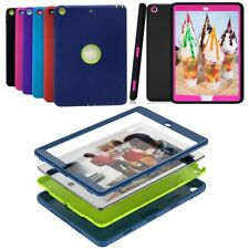 For Appl iPad 10.2 7th Gen Kids Shockproof Silicone Rugged Protective Cover Case