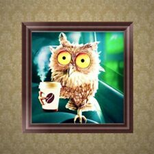 DIY 5D Owl Animal Diamond Embroidery Rhinestone Painting Cross Stitch Decor