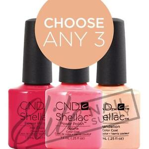CND SHELLAC Color Coat 7.3ml - Choose Any 3 Colours + FREE Remover Wraps 10ct