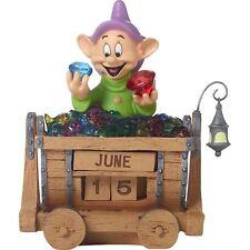 PRECIOUS MOMENTS Disney Snow White DOPEY Perpetual CALENDAR NEW