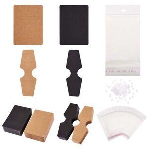 500pcs/Set Kraft Cardboard Display Cards 2-Style w/ Cellophane Bags Earring Back