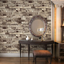 "Vinyl Vintage Faux Brick Stone 3D Wallpaper for Home Kitchen Mural 20.8""x393.7"""