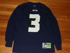 NEW MAJESTIC SEATTLE SEAHAWKS RUSSELL WILSON LONG SLEEVE T-SHIRT MENS MEDIUM