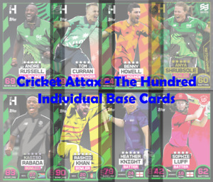Topps Cricket Attax 2021 The Hundred - Choose Your Individual Base Cards
