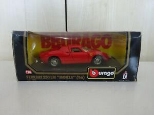 BURAGO FERRARI MONZA  250 LM   1966  1/24  (1506 ) MINT MODEL BOX WITH WEAR