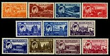 1947 Oil Derrick,Cathedral,Bridge,Log raft,Steamer,Definitives,Romania,1066,MNH