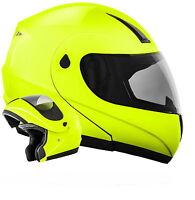 ATO K71 Neon Größe L Klapphelm Motorradhelm ECE 22-05 Motorrad Helm Grün Gelb