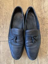 Para Hombre Russell and Bromley Negro Cuero Borla loathers UK Size 11 12 45 46